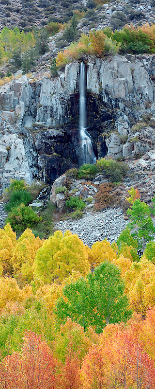 Small seasonal waterfall. Bishop Canyon. California