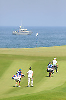 A general view of the 11th hole during the second round of the NBO Open played at Al Mouj Golf, Muscat, Sultanate of Oman. <br /> 16/02/2018.<br /> Picture: Golffile | Phil Inglis<br /> <br /> <br /> All photo usage must carry mandatory copyright credit (&copy; Golffile | Phil Inglis)
