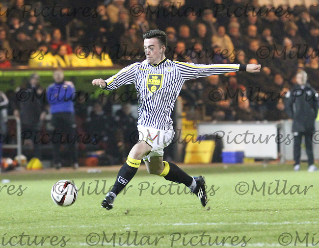 Stephen Mallan in the St Mirren v Dundee United Scottish Professional Football League Premiership match played at St Mirren Park, Paisley on 21.1.15.