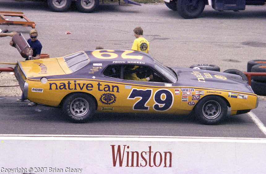 Frank Warren #79 Dodge Charger 17th place finish pits pit stop Southern 500 Darlington Raceway, Darlington SC, September 5, 1977.(Photo by Brian Cleary/www.bcpix.com)
