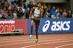 Shaunae MILLER-UIBO (BAH) in the womens 200m heat. IAAF world athletics championships. London Olympic stadium. Queen Elizabeth Olympic park. Stratford. London. UK. 08/08/2017. ~ MANDATORY CREDIT Garry Bowden/SIPPA - NO UNAUTHORISED USE - +44 7837 394578