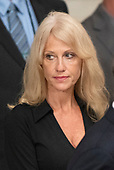 Counselor to the President Kellyanne Conway as she attends the Lying in State ceremony honoring the late United States Senator John McCain (Republican of Arizona) in the US Capitol Rotunda in Washington, DC on Friday, August 31, 2018.<br /> Credit: Ron Sachs / CNP<br /> <br /> (RESTRICTION: NO New York or New Jersey Newspapers or newspapers within a 75 mile radius of New York City)