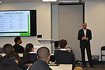 LyondellBasell CEO Bob Patel speaks to students about the importance of having a reasonable, workable budget.