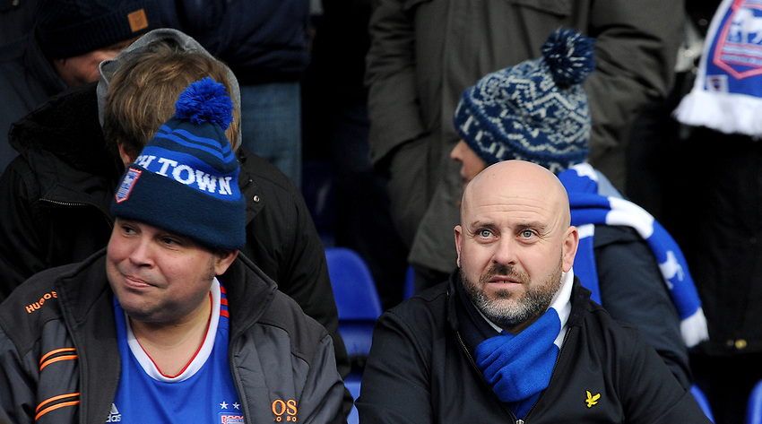 fans enjoy the pre-match atmosphere <br /> <br /> Photographer Hannah Fountain/CameraSport<br /> <br /> The EFL Sky Bet Championship - Ipswich Town v Stoke City - Saturday 16th February 2019 - Portman Road - Ipswich<br /> <br /> World Copyright © 2019 CameraSport. All rights reserved. 43 Linden Ave. Countesthorpe. Leicester. England. LE8 5PG - Tel: +44 (0) 116 277 4147 - admin@camerasport.com - www.camerasport.com