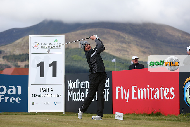 Peter Lawrie (IRL) plays to the 11th during Round Two of the 2015 Dubai Duty Free Irish Open Hosted by The Rory Foundation at Royal County Down Golf Club, Newcastle County Down, Northern Ireland. 29/05/2015. Picture David Lloyd | www.golffile.ie