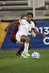 06 December 2013: Florida State's Jamia Fields (4). The Florida State Seminoles defeated the Virginia Tech University Hokies 3-2 at WakeMed Stadium in Cary, North Carolina in a 2013 NCAA Division I Women's College Cup semifinal match.
