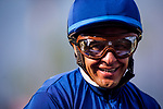 ARCADIA, CA - FEBRUARY 10: Victor Espinoza at the San Vicente Stakes at Santa Anita Park on February 10, 2018 in Arcadia, California. (Photo by: Alex Evers/Eclipse Sportswire/Getty Images)