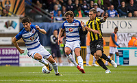 John Swift of Reading holds off Charlie Colkett of Vitesse WITH Pelle Clement of Reading (left) during the Friendly match between Reading and Vitesse Arnhem at Adams Park, High Wycombe, England on 29 July 2017. Photo by Kevin Prescod / PRiME Media Images.<br /> **EDITORIAL USE ONLY FA Premier League and Football League are subject to DataCo Licence.