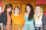 Méadbh O'Connell, Mary and Nessa Sheehy and Katie O'Grady at the Rose of Con's in the River Island Hotel on Friday night.