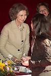 MADRID (25/10/2010).- Queen Sofia attended the red cross fundraising day (Dia de la Banderita)...Photo: Cesar Cebolla / ALFAQUI
