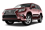 Stock pictures of low aggressive front three quarter view of 2018 Lexus GX 460 5 Door SUV Low Aggressive