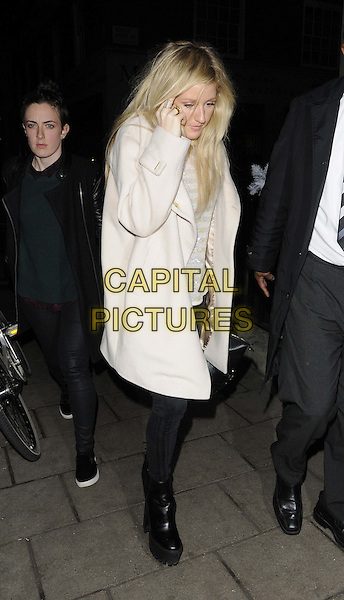 LONDON, ENGLAND - DECEMBER 09: Ellie Goulding departs after an evening meal at 34 restaurant, 34 restaurant, South Audley St.., on December 09, 2013 in London, England, UK.<br /> CAP/CAN<br /> &copy;Can Nguyen/Capital Pictures