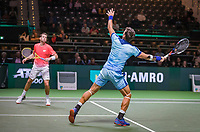 Rotterdam, The Netherlands, 11 Februari 2019, ABNAMRO World Tennis Tournament, Ahoy, first round doubles:  Austin Krajicek (USA) - Artem Sitak (NZL) (R)<br /> Photo: www.tennisimages.com/Henk Koster