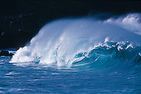 Legendary Giant Waves of Waimea Bay on the North Shore of Oahu, Hawaii, USA.