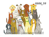 Kate, CUTE ANIMALS, LUSTIGE TIERE, ANIMALITOS DIVERTIDOS, paintings+++++Cat and dogs selfie #,GBKM58,#ac#, EVERYDAY ,dogs,dog