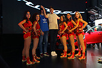 Automobile Barcelona 2017.<br /> Stand KIA.<br /> Dream Cheers, Alex Abrines &amp; Juancho Hernangomez.