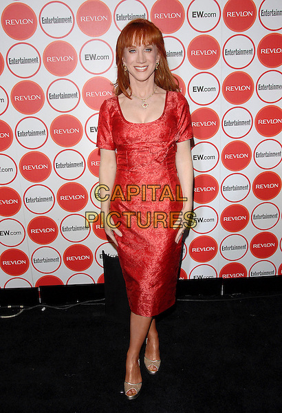 KATHY GRIFFIN.attends The Entertainment Weekly Pre-Emmy Party held at Republic in West Hollywood, California, USA,.August 26, 2006..full length red dress.Ref: DVS.www.capitalpictures.com.sales@capitalpictures.com.©Debbie VanStory/Capital Pictures
