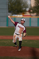 Nicholas Landa (7) of Highland High School in Palmdale, California during the Baseball Factory All-America Pre-Season Tournament, powered by Under Armour, on January 14, 2018 at Sloan Park Complex in Mesa, Arizona.  (Freek Bouw/Four Seam Images)