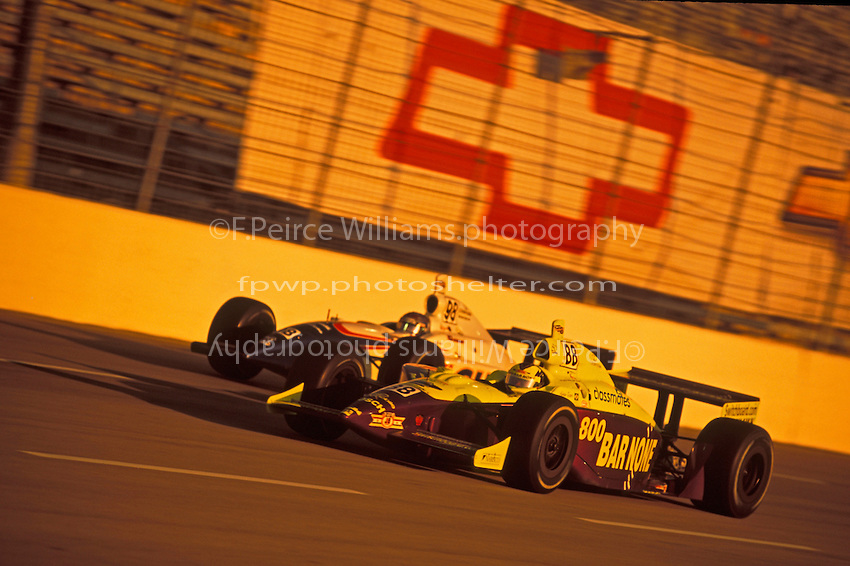 Airton Dare (#88 and Billy Boat (#98) Texas Motor Speedway 2001 (Indy Racing League)
