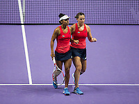 ABIGAIL SPEARS (USA), RACQUEL KOPS-JONES (USA)<br /> <br /> WTA FINALS, SINGAPORE INDOOR STADIUM, SINGAPORE SPORTS HUB, SINGAPORE, 2015