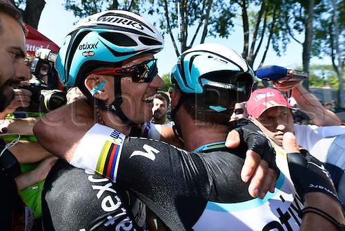 09.07.2015 Le Havre, France.  STYBAR Zdenek ETIXX-QUICK STEP stage winner of stage 6 of the 102nd edition of the Tour de France 2015 with start in Abbeville and finish in Le Havre, France (191 kms)