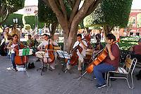 Music students performing the Jardin in San Miguel de Allende, Mexico