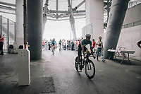 Italian road champion Fabio Arru (ITA/Astana) entering the Orange V&eacute;lodrome for the start of his recon although his not the national TT champion...<br /> <br /> 104th Tour de France 2017<br /> Stage 20 (ITT) - Marseille &rsaquo; Marseille (23km)