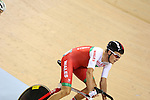 Glasgow 2014 Commonwealth Games<br /> Sam Harrison competing in the men's 40km points race final.<br /> Sir Chris Hoy Velodrome<br /> 26.07.14<br /> ©Steve Pope-SPORTINGWALES