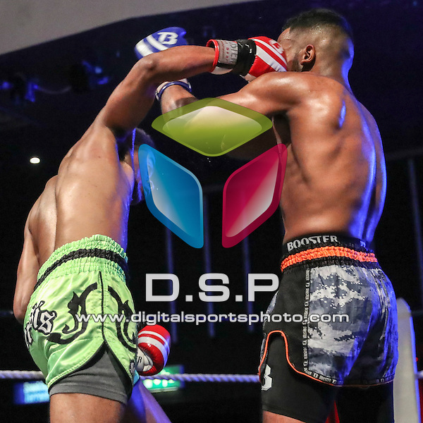 Jaxwell Castro (Nemesis) VS Kane Barring (4D) - 64kg C Class Thai 3x2's.  During Fast and Furious Fight Series 16 Photo by: Stephen Smith<br /> <br /> Saturday 22nd October 2016 - Oceana, Southampton, Hampshire, United Kingdom.
