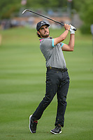 Abraham Ancer (MEX) watches his approach shot on 1 during day 4 of the Valero Texas Open, at the TPC San Antonio Oaks Course, San Antonio, Texas, USA. 4/7/2019.<br /> Picture: Golffile | Ken Murray<br /> <br /> <br /> All photo usage must carry mandatory copyright credit (© Golffile | Ken Murray)