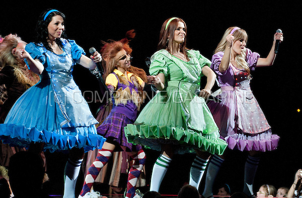 Flemish/Dutch children pop band K3 in concert in the Sportpaleis, Antwerp (Belgium, 03/03/2012)