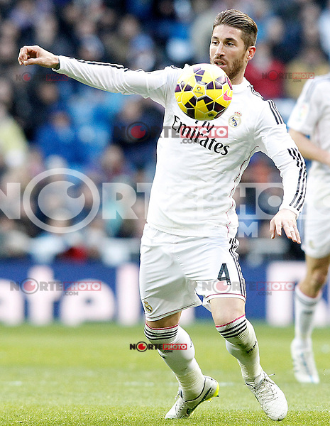 Real Madrid's Sergio Ramos during La Liga match.January 31,2015. (ALTERPHOTOS/Acero) /NortePhoto<br />