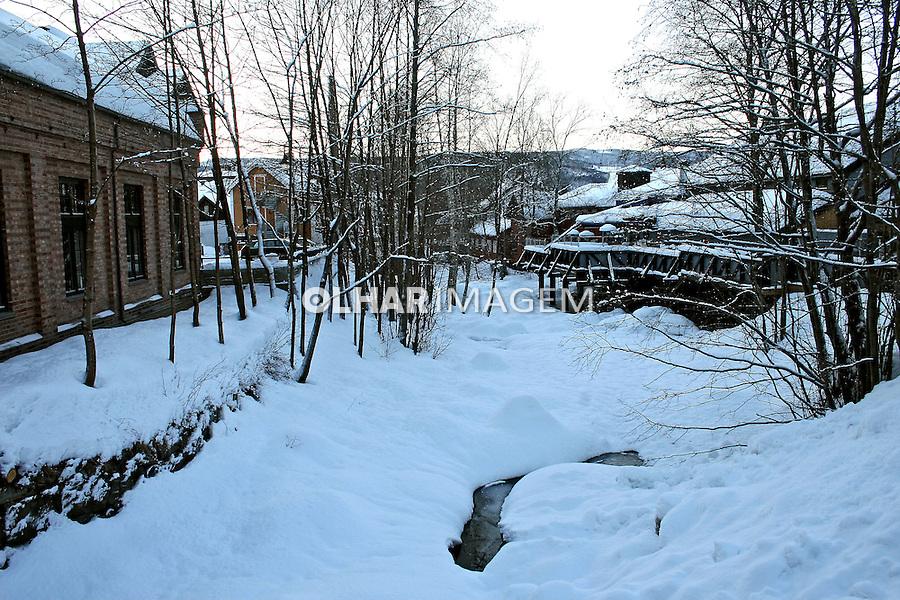 Rio congelado em Lillehammer. Noruega. 2008. Foto de Marcio Nel Cimatti.