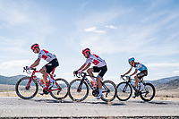With strong crosswinds, the peleton fractures into many (9 through the feedzone) pockets of riders and makes for fierce racing form start to finish at a (very) high average speed (50.63 km/h).<br /> At 90km Alex Kirsch (LUX/Trek-Segafredo), John Degenkolb (DEU/Trek-Segafredo) & Quentin Jauregui (FRA/AG2R - La Mondiale) float between the first and the GC group 5 minutes behind.<br /> <br /> Stage 17: Aranda de Duero to Guadalajara (220km)<br /> La Vuelta 2019<br /> <br /> ©kramon