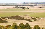 View of Salisbury Plain north from Sidbury Camp, Haxton Down, near Everleigh, Wiltshire, England, UK