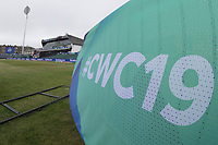 An unusual view of the Bristol Pavilion during South Africa vs West Indies, ICC World Cup Warm-Up Match Cricket at the Bristol County Ground on 26th May 2019