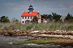 Eastern Point Lighthouse in Heislerville WMA, Maurice River, NJ, USA