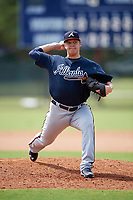 Atlanta Braves pitcher Jacob Webb (37) delivers a pitch during an Instructional League game against the Philadelphia Phillies on October 9, 2017 at the Carpenter Complex in Clearwater, Florida.  (Mike Janes/Four Seam Images)