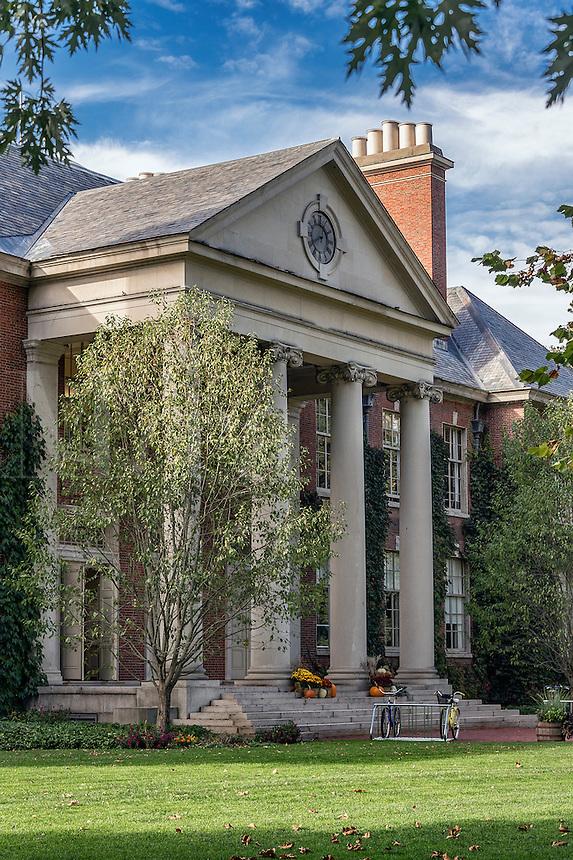 The Acad4emy building exterior at Deerfield Academy, Deerfield, Massachusetts, USA