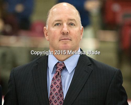 Ted Donato (Harvard - Head Coach) - The Harvard University Crimson defeated the visiting Brown University Brown Bears 5-2 (EN) on Saturday, November 7, 2015, at Bright-Landry Center in Boston, Massachusetts.