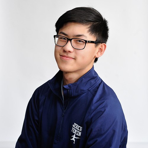 Jonathan Sheng of Jericho poses for a portrait during Newsday's All-Long Island boys fencing photo shoot at company headquarters in Melville on Friday, March 23, 2018.