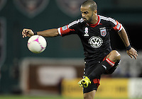 WASHINGTON, DC - OCTOBER 20, 2012:  Maicon Santos (29) of D.C United controls the ball agaist the Columbus Crew during an MLS match at RFK Stadium in Washington D.C. on October 20. D.C United won 3-2.
