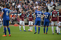 Manuel Lanzini of West Ham and Aaron Cresswell during West Ham United vs Everton, Premier League Football at The London Stadium on 13th May 2018