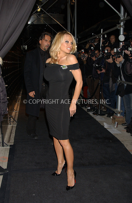 WWW.ACEPIXS.COM . . . . . ......February 1 2006, New York City....PAMELA ANDERSON....Red Carpet arrivals for the launch party of Sean (P Diddy) Combs' new fragrance 'Unforgivable' which is part of his 'Sean John' fashion line at The Core Club, Midtown Manhattan.....Please byline: KRISTIN CALLAHAN - ACEPIXS.COM.. . . . . . ..Ace Pictures, Inc:  ..Philip Vaughan (212) 243-8787 or (646) 769 0430..e-mail: info@acepixs.com..web: http://www.acepixs.com