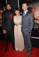 Tausolo Aeiti, Keisha Castle-Hughes &amp; Adam Schumann at the premiere for &quot;Thank You For Your Service&quot; at the Regal LA Live Theatre. Los Angeles, USA 23 October  2017<br /> Picture: Paul Smith/Featureflash/SilverHub 0208 004 5359 sales@silverhubmedia.com