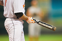 A Tennessee Volunteers batter squares to bunt using a DeMarini bat during the game against the Texas Longhorns at Minute Maid Park on March 3, 2012 in Houston, Texas.  The Volunteers defeated the Longhorns 5-4.  (Brian Westerholt/Four Seam Images)