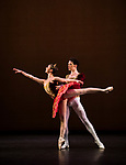 English National Ballet. Emerging Dancer competition. Isabelle Brouwers and Emilio Pavan. Paquita grand pas. Choreography: Marius Petipa<br /> Music: &Eacute;douard Deldevez and Ludwig Minkus<br /> Mentored by: Senri Kou and Daniel Kraus