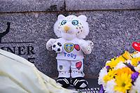 Tributes to Toby Nye, left outside Elland Road<br /> <br /> Photographer Alex Dodd/CameraSport<br /> <br /> The EFL Sky Bet Championship - Leeds United v Norwich City - Saturday 2nd February 2019 - Elland Road - Leeds<br /> <br /> World Copyright © 2019 CameraSport. All rights reserved. 43 Linden Ave. Countesthorpe. Leicester. England. LE8 5PG - Tel: +44 (0) 116 277 4147 - admin@camerasport.com - www.camerasport.com