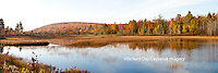 64776-011.08 Fall Color pond Alger county in the Upper Peninsula, MI