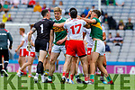 David Clifford, Kerry in a tussle during the All Ireland Senior Football Semi Final between Kerry and Tyrone at Croke Park, Dublin on Sunday.